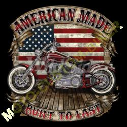 T shirt biker built to last