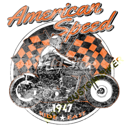 T shirt biker american speed