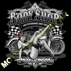 T shirt biker body shop