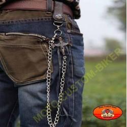 Chaine portefeuille biker