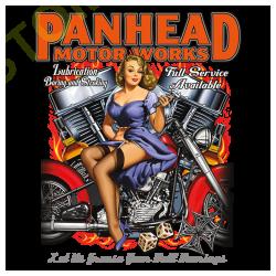 T shirt biker panhead
