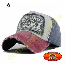 Casquette Motors racing old school n°6