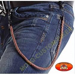 Lanière portefeuille marron