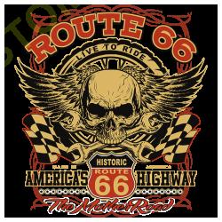 T shirt biker route 66