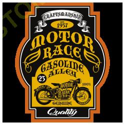 T shirt biker motor race