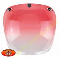Visière bulle rouge dégradé pour casque jet