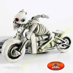 Porte cles skull biker