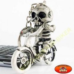 Porte cles smoking skull biker