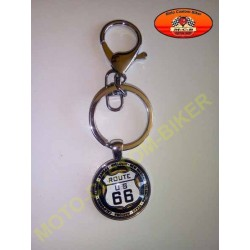 Porte cles balle.bar & shield route 66