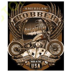 T shirt biker bobber