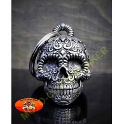 Clochette moto sugar skull