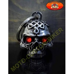 Clochette moto celtic skull red diamond