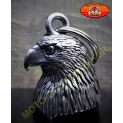 Clochette moto tête d'aigle