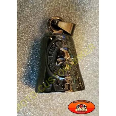 Clochette moto noir skull harley