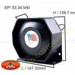 Speaker noir ultra slim de 200w