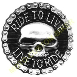 Boucle de ceinture ride to live