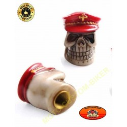 Bouchons de valves moto red hat skull