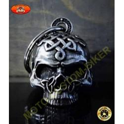 Clochette moto celtic skull