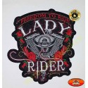 Patch, écusson freedom lady rider roses rouge