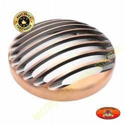 Grille de phare bronze pour harley sportster et dyna en phare 5 3/4