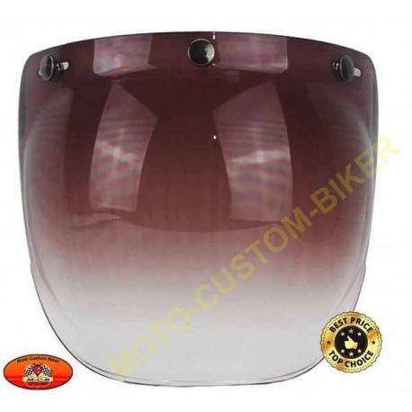 Visière bulle marron foncé dégradé pour casque jet