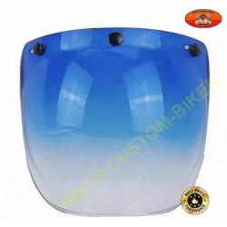 Visière bulle bleu dégradé pour casque jet