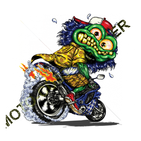 T shirt biker hot rod pig