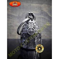 Clochette moto croix celte