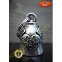 Clochette moto heart wing