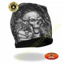 Bonnet biker gun skull