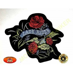 Patch, écusson lady rider trois roses