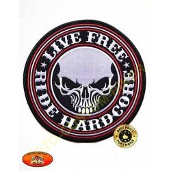 Patch, écusson live free hardcore