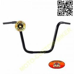 Guidons moto noir ape hanger 10-12-14-18 inch