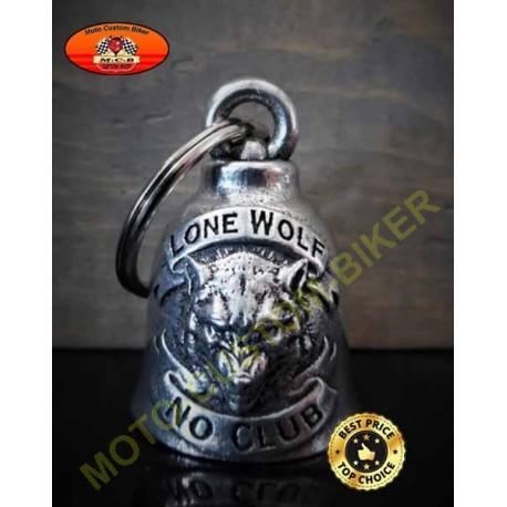 Clochette moto lone wolf, no club