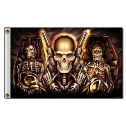 Drapeaux biker caskets
