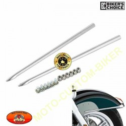 Front Fender Spear Trim For Harley Touring Electra Glide Softail Heritage Classic