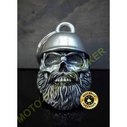 Clochette moto helmet skull biker