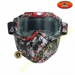 Kit cache nez avec lunette et anti poussière